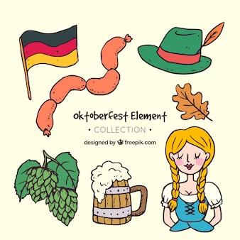 Traditionelle zeichnung von oktoberfest