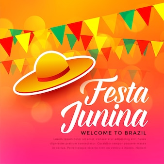 Traditioneller festivalhintergrund festa junina