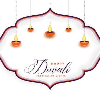 Traditioneller glücklicher diwali festivalhintergrund