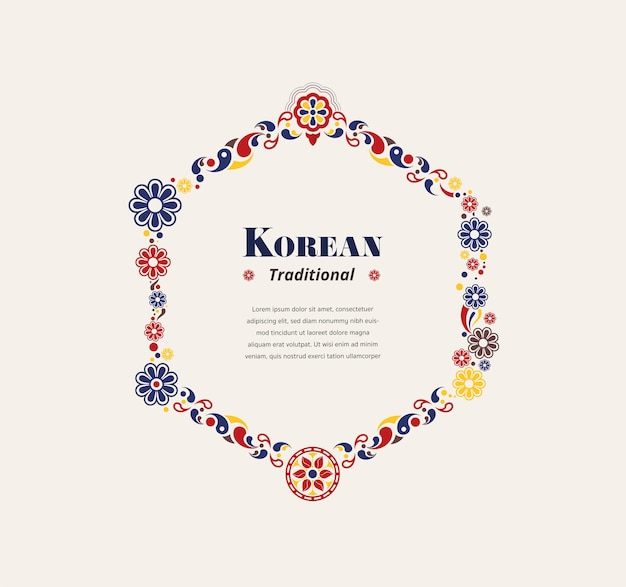 Traditioneller hexagonrahmen koreas