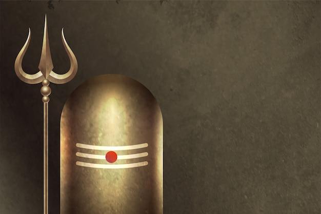 Traditioneller hinduistischer lord shiva shivling hintergrund