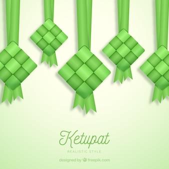 Traditioneller ketupat hintergrund