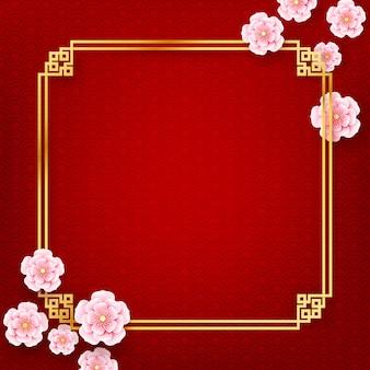 Traditioneller kunststil der chinesischen pflaumenblütenblume