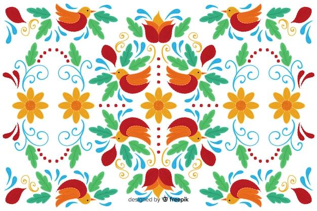 Traditioneller mexikanischer stickereihintergrund