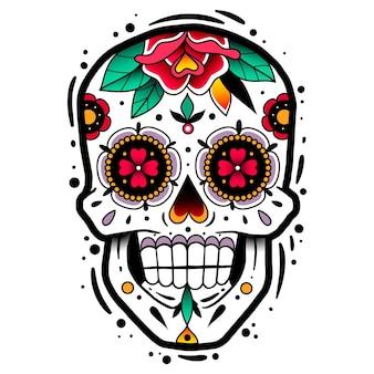 Traditioneller mexikanischer zuckerschädel