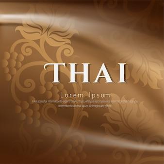 Traditioneller thailändischer hintergrund, das konzept der künste von thailand.