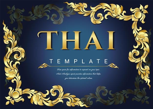 Traditioneller thailändischer hintergrund
