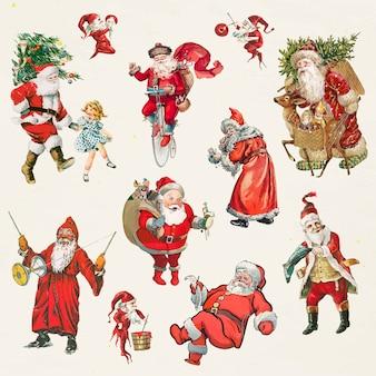 Traditioneller zeichensatz des weihnachtsmanns