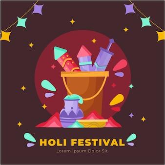 Traditionelles buntes holi festival