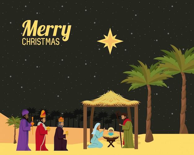 Traditionelles christliches weihnachten