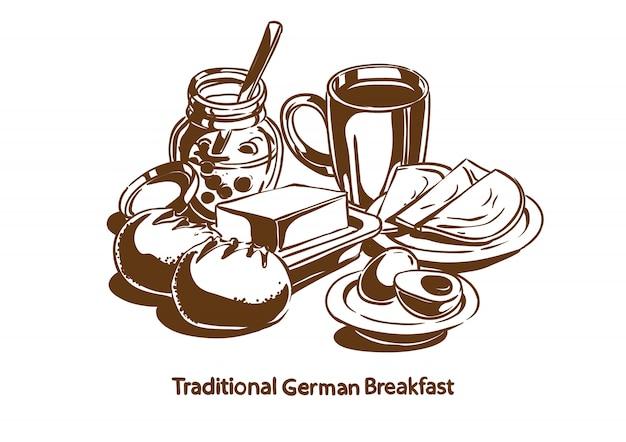 Traditionelles deutsches frühstück