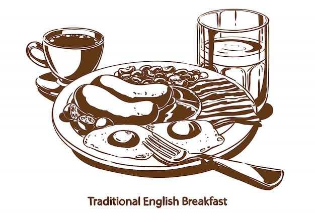 Traditionelles englisches frühstück