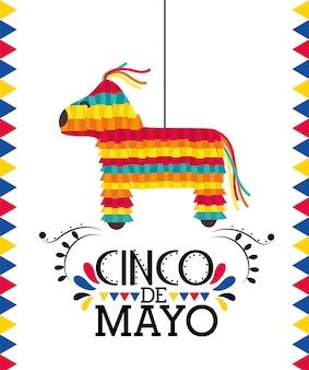 Traditionelles ereignis zur mexikanischen feiertagsfeier