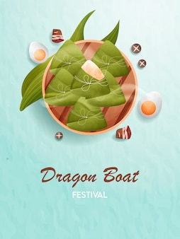 Traditionelles essen des drachenbootfestivals.