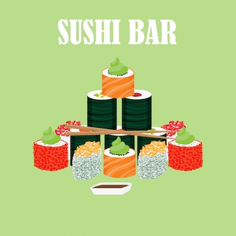 Traditionelles japanisches lebensmittelkonzept