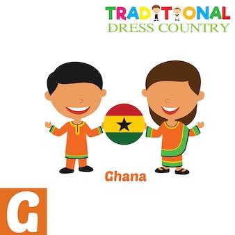 Traditionelles kleid land