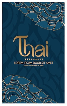 Traditionelles konzept des thailändischen musters die künste von thailand