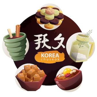 Traditionelles koreanisches dessert für chuseok