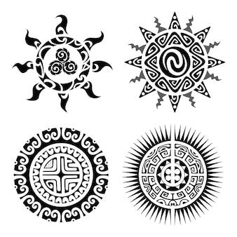 Traditionelles maori taniwha tattoo
