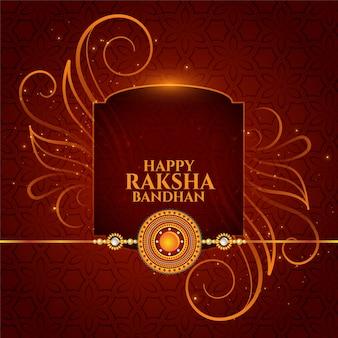 Traditionelles raksha bandhan bruder und schwester festival