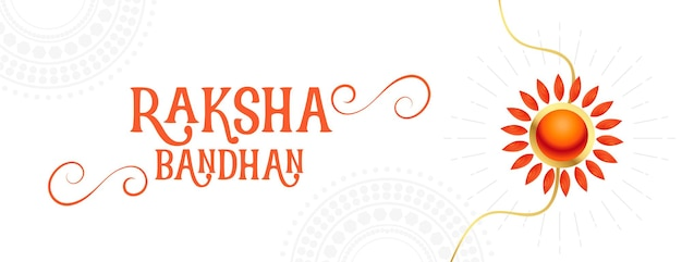 Traditionelles raksha-bandhan-verkaufsbanner mit rakhi-design