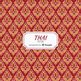 Traditionelles thailändisches muster mit flachem design