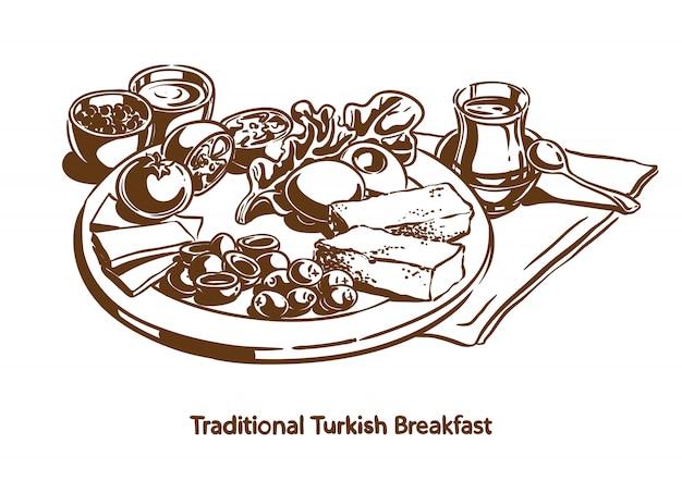 Traditionelles türkisches frühstück