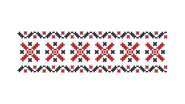 Traditionelles ukrainisches muster. isoliert. vektor.