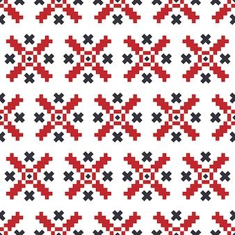 Traditionelles ukrainisches muster. nahtloses muster mit gesticktem hemd