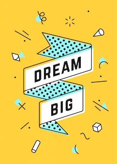 Träume groß. vintage band banner