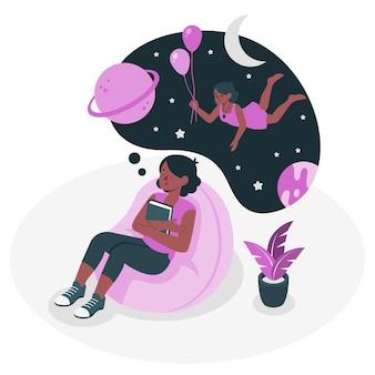 Träumer-konzeptillustration