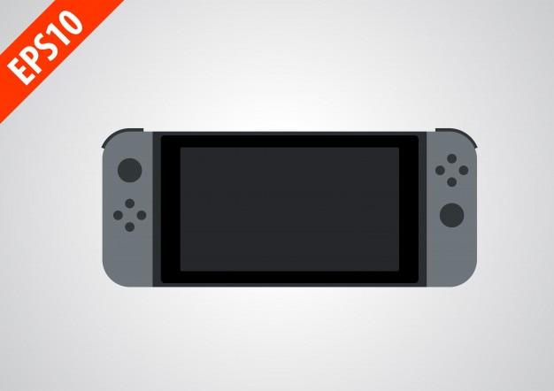 Tragbare handheld-spielkonsole flache symbol illustrator für gamming apps oder website