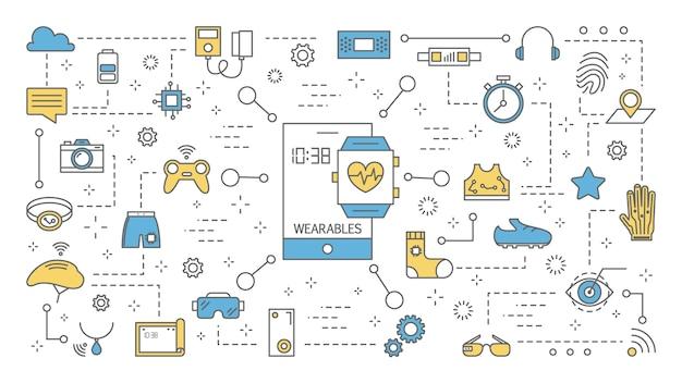 Tragbare technologie für gesundheitswesen und kommunikation