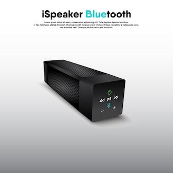 Tragbarer bluetooth-lautsprecher mit realistischem 3d-design, lautsprecher für elektronische musik zum hören von unterhaltungs- und freizeitveranstaltungen.