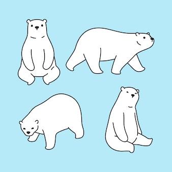 Tragen polare zeichenkarikaturillustration