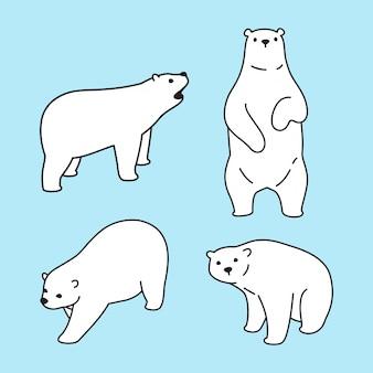 Tragen polare zeichentrickfigur abbildung
