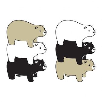 Tragen sie polare karikaturillustration