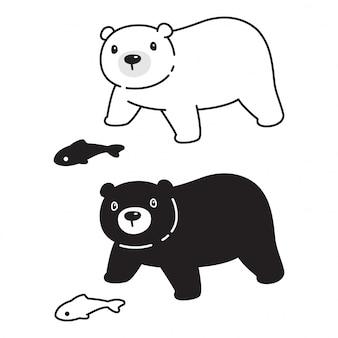 Tragen sie polare zeichenkarikaturillustration