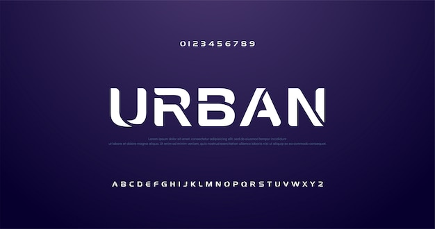 Tragen sie zukünftige kurve, moderne alphabetgüsse der welle zur schau