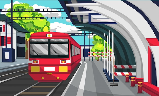 Train commuter line bahnhof
