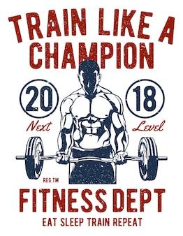 Trainiere wie ein champion