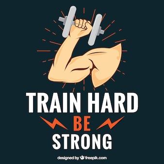 Trainieren sie harten hintergrund