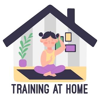 Training zu hause konzept