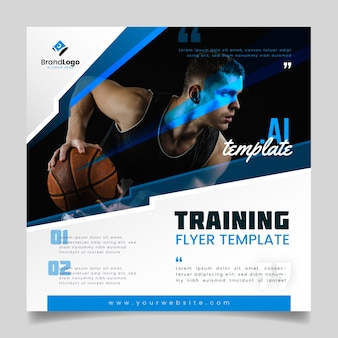 Trainingsflyer vorlage