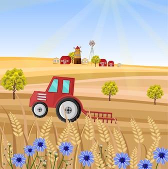 Traktor auf dem bauernhof
