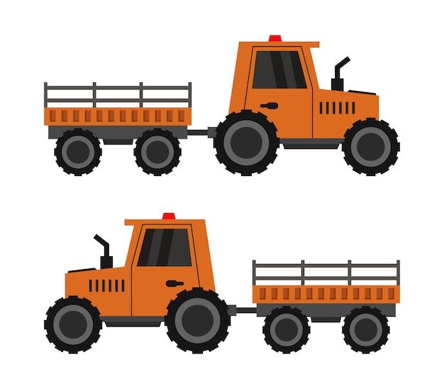 Traktor mit einem wagen