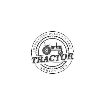 Traktorlogo für die landwirtschaft industriell, bewirtschaftend
