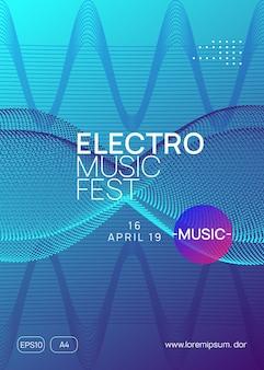 Trance-party. moderne diskothek-cover-vorlage. dynamische verlaufsform und -linie. neon-trance-party-flyer. electro-dance-musik. elektronischer klang. club-dj-poster. techno-fest-event.
