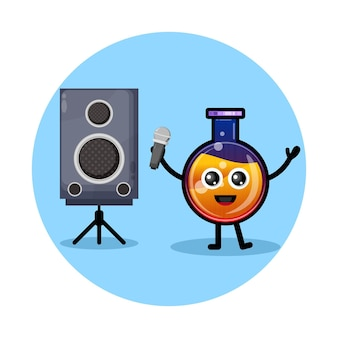 Trankflasche karaoke süßes charakterlogo
