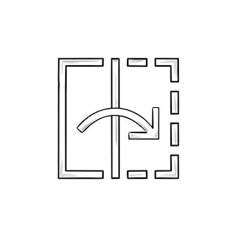 Transformieren sie das handgezeichnete umriss-doodle-symbol des werkzeugs